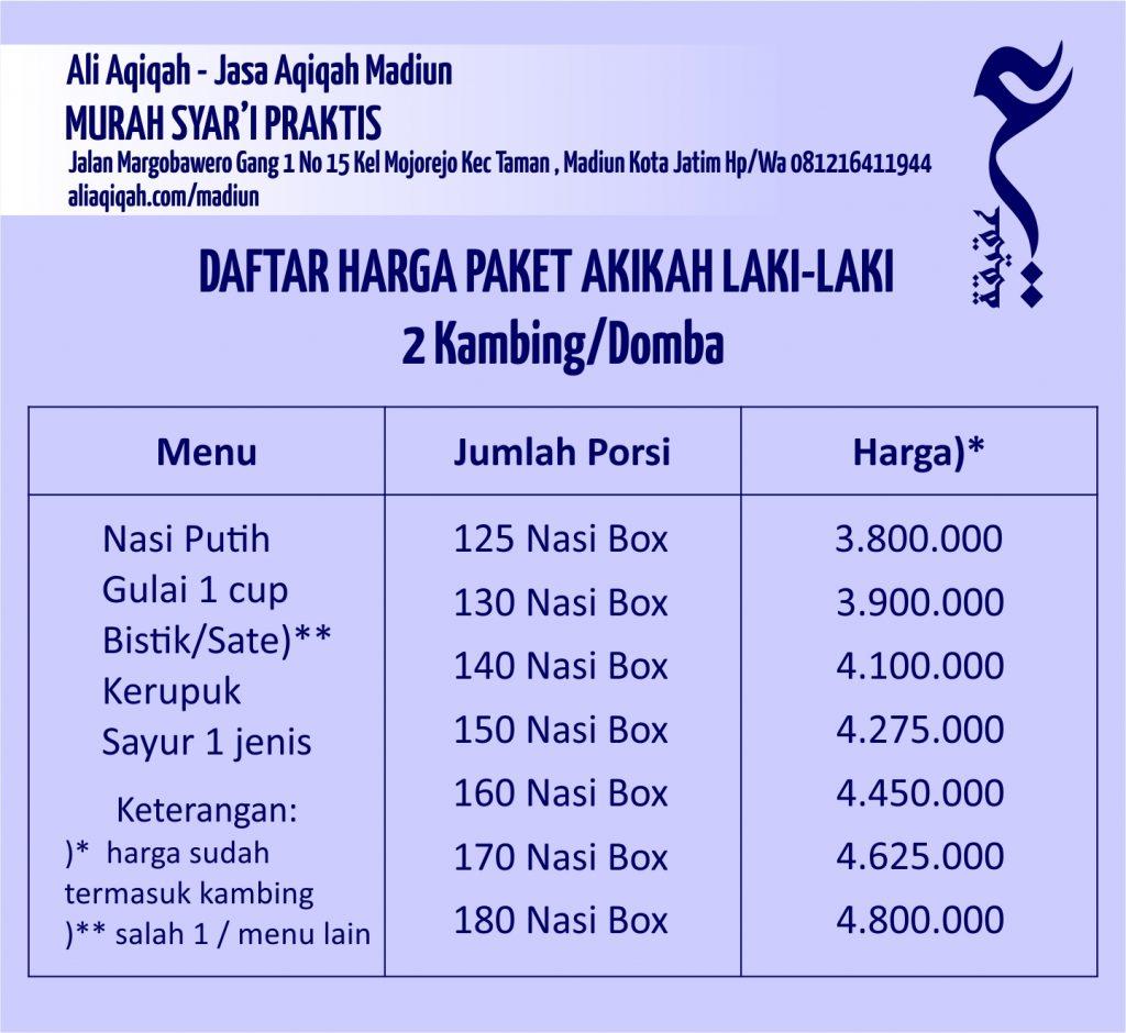 daftar harga paket aqiqah madiun untuk anak laki-laki