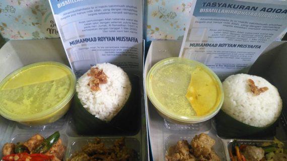 Menu nasi box jasa aqiqah purwokerto lengkap bisa menyesuaikan selera dan budget